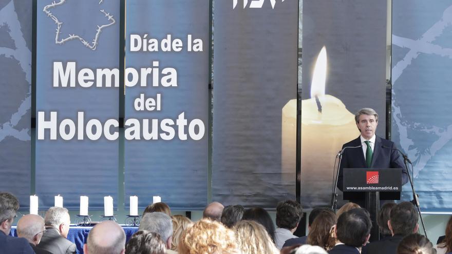 El presidente regional participa en la conmemoración del Día de la Memoria del Holocausto celebrado en la Asamblea de Madrid