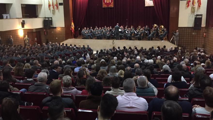 Uno de los momentos del acto celebrado en Colegio de las Guardias Jóvenes Duque de Ahumada de Valdemoro