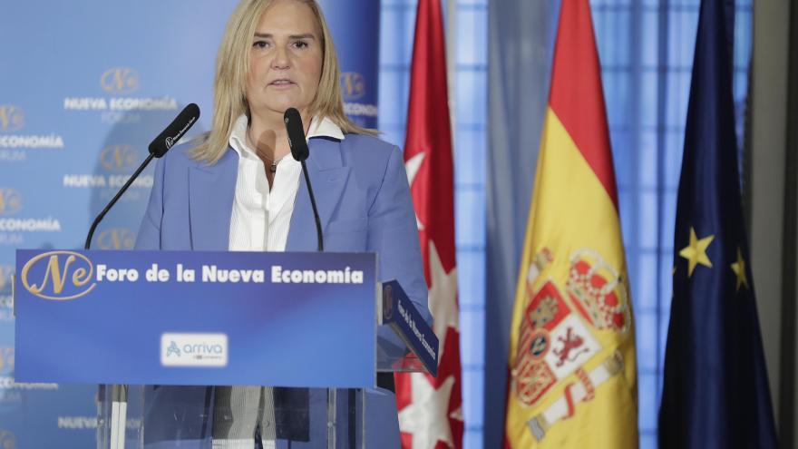 Intervención de la consejera de Transportes, Vivienda e Infraestructuras, Rosalía Gonzalo.