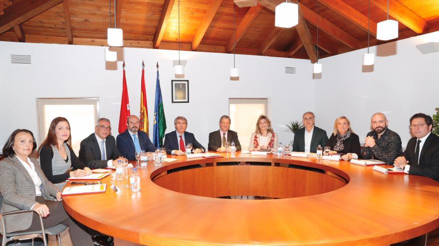 Ángel Garrido, Pedro Rollán y Luis Partida