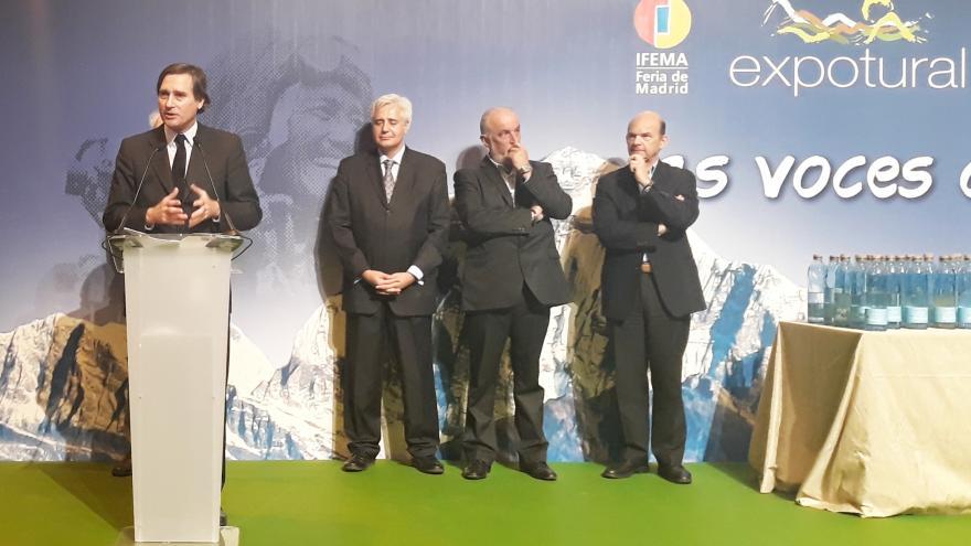 Álvaro Ballarín en la inauguración de Expotural 2018