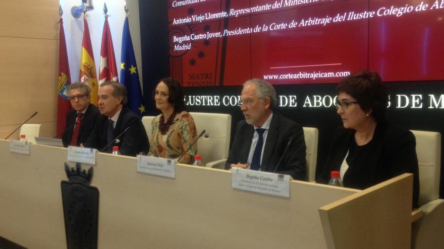 Yolanda Ibarrola en la inauguración del IX Congreso de Instituciones Arbitrales
