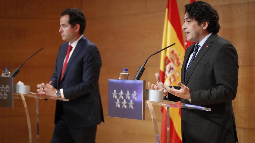 David Pérez durante la rueda de prensa tras el Consejo de Gobierno