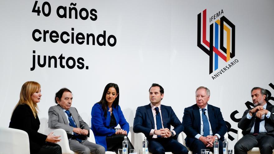 Ignacio Aguado durante la clausura de los actos de celebración del 40 aniversario de IFEMA