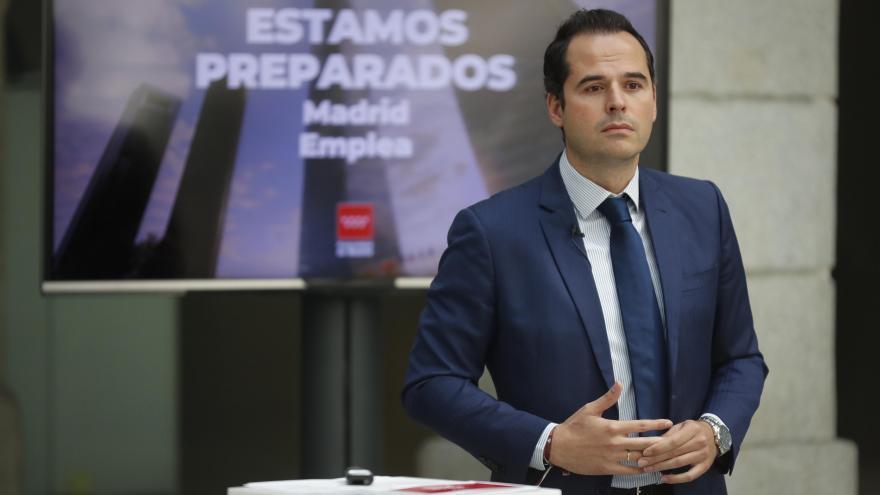 Ignacio Aguado durante la presentación del Plan de Acción para la Reactivación del Empleo
