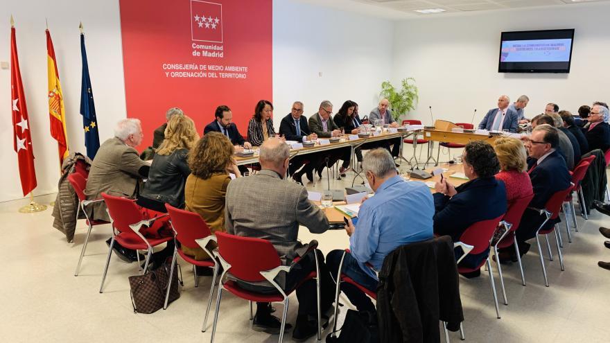 Carlos Izquierdo en la reunión para la constitución del Consejo Asesor para el Desarrollo de la Agenda 2030 en la Comunidad de Madrid