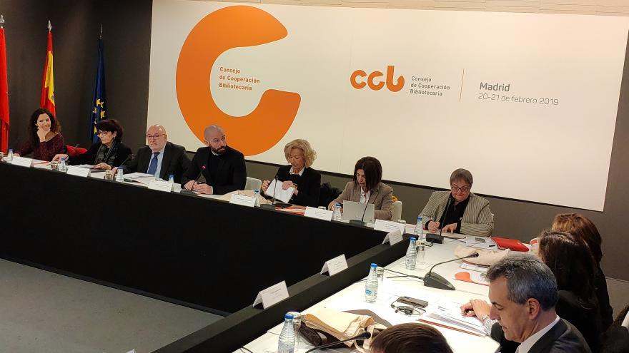 Jaime de los Santos en la reunión anual del pleno del Consejo de Cooperación Bibliotecaria