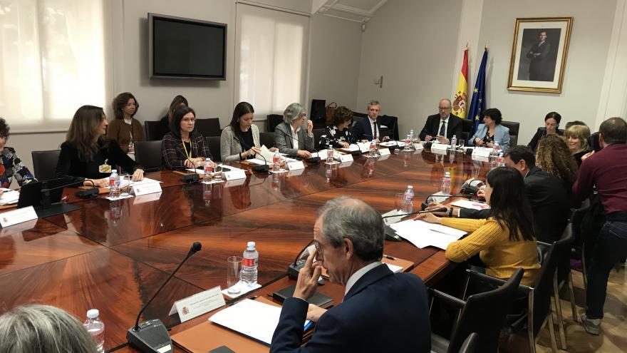 Lola Moreno en Comisión Sectorial de Igualdad