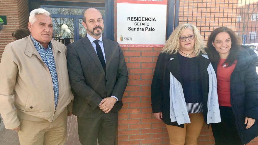 Pedro Rollán en Getafe en un acto en homenaje y recuerdo a Sandra Palo