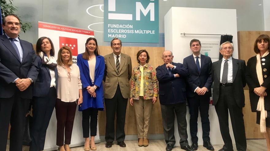 Lola Moreno durante la visita