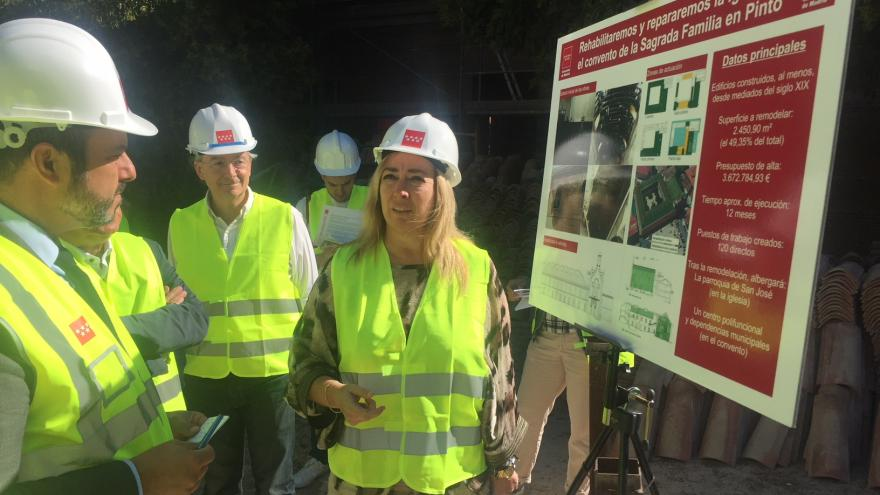Rollán supervisa la ejecución de las obras de rehabilitación de la Iglesia y Convento de la Sagrada Familia de Pinto