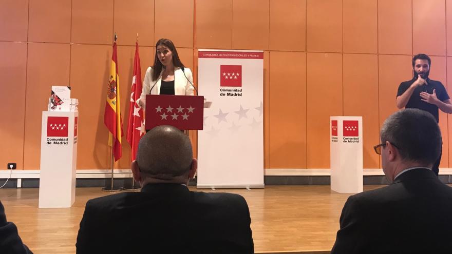 La Consejera de Políticas Sociales ha presentado la Estrategia Madrileña de Atención a Personas con Discapacidad