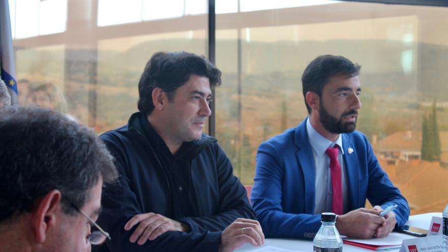 David Pérez, en un encuentro con los alcaldes de la zona norte,