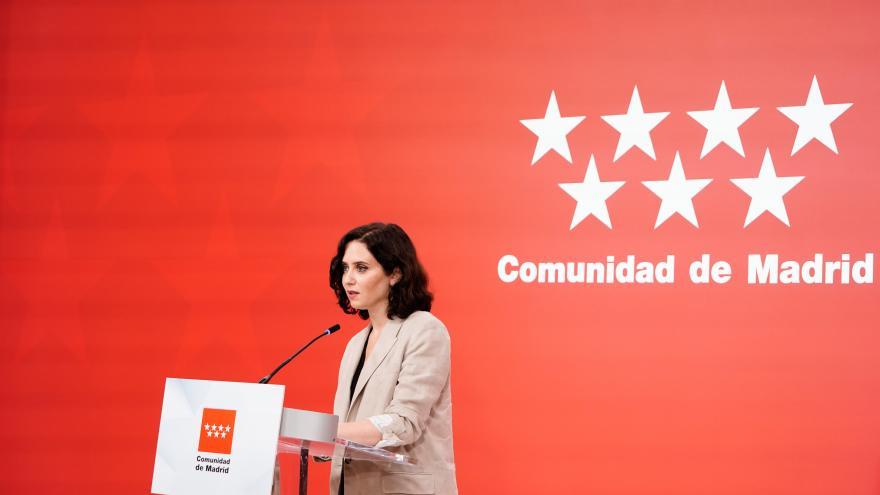 Isabel Díaz Ayuso en rueda de prensa