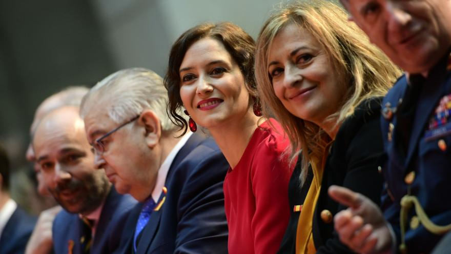 Isabel Díaz Ayuso durante el acto de homenaje a la Constitución Española