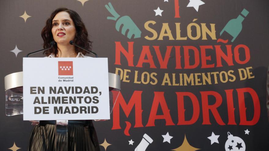 Isabel Díaz Ayuso durante el acto