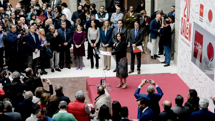 Isabel Díaz Ayuso durante la inauguración de la XX Edición del Salón del Vino