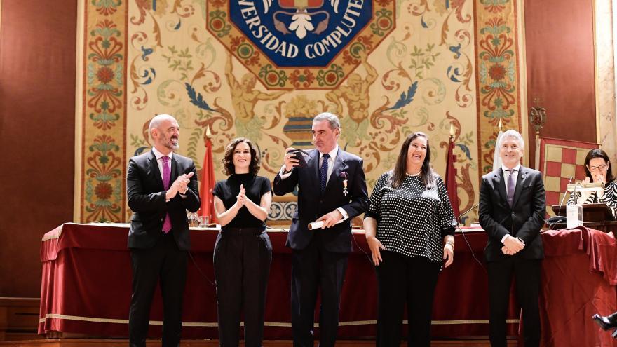 Isabel Díaz Ayuso en la entrega los premios anuales de la Asociación de Víctimas del Terrorismo (AVT)
