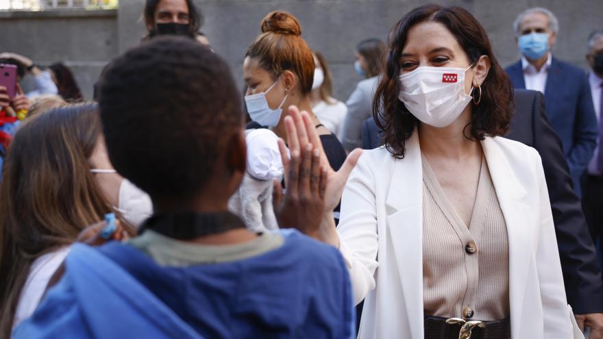 Isabel Díaz Ayuso durante el acto de homenaje de la Fundación Madrina