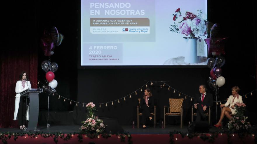 Isabel Díaz Ayuso participando en el Día Mundial contra el Cáncer