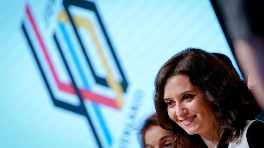 Isabel Díaz Ayuso durante la clausura de los actos de celebración del 40 aniversario de IFEMA