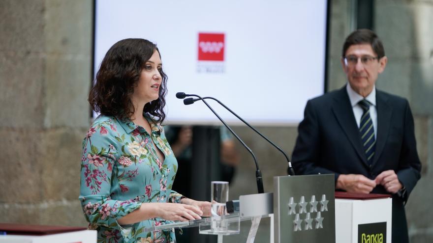 Isabel Díaz Ayuso durante la presentación del nuevo Carné Joven