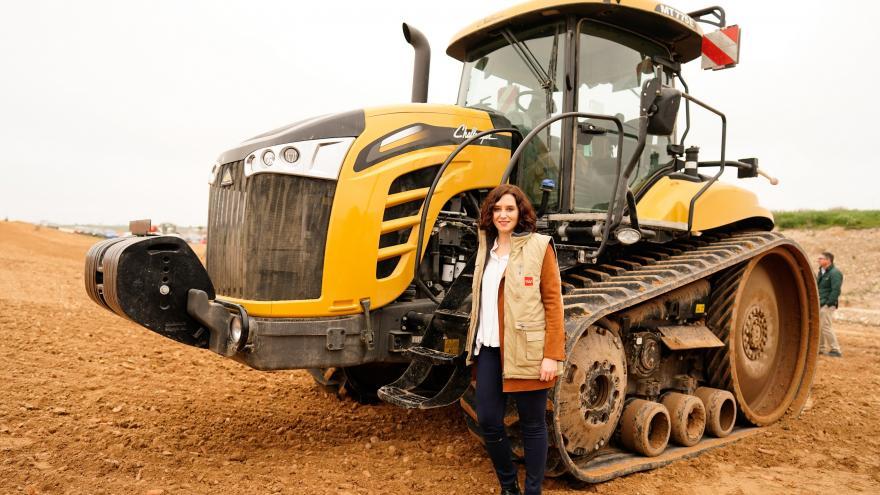 Isabel Díaz Ayuso durante la presentación del Plan Terra
