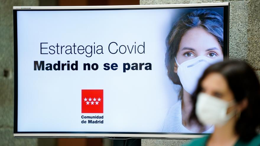 Isabel Díaz Ayuso durante la presentación de la Estrategia frente al COVID-19