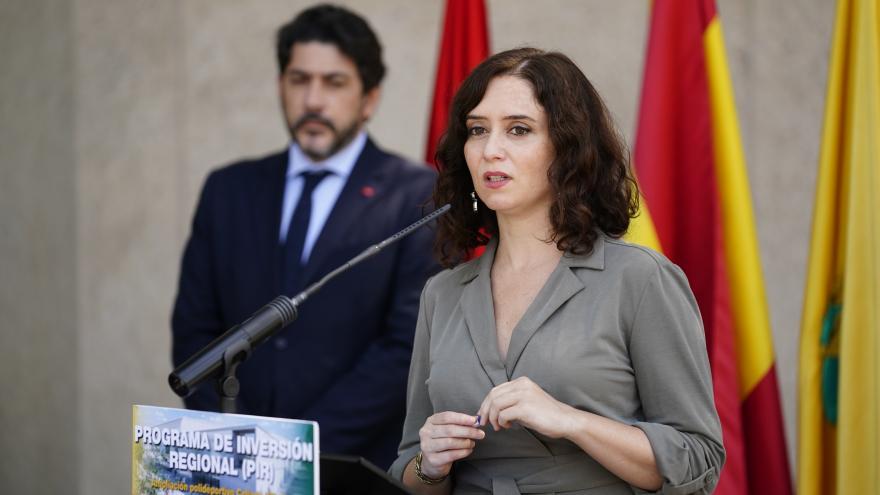 Isabel Díaz Ayuso durante su visita a Collado Villalba