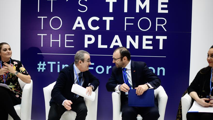 Manuel Giménez, participando en la Cumbre del Clima (COP25)