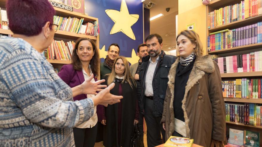 Marta Rivera de la Cruz en la celebración del Día de las Librerías