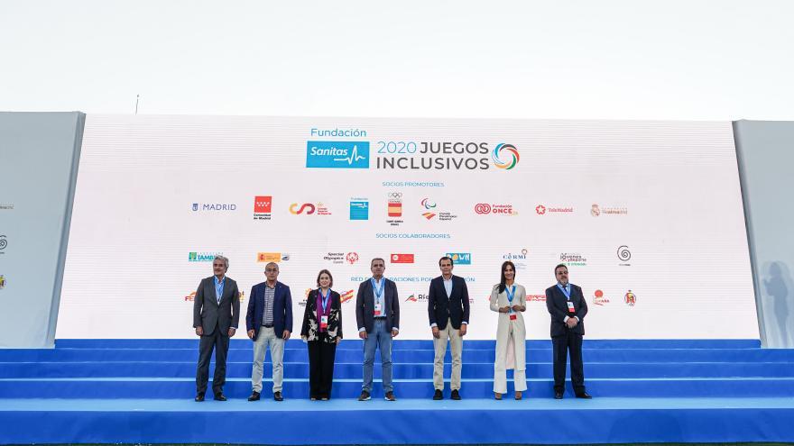 Marta Rivera durante la clausura de la primera edición los Juegos Inclusivos