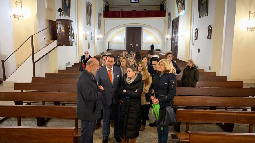 Marta Rivera durante su visita a Campo Real, Villarejo de Salvanés y Morata de Tajuña