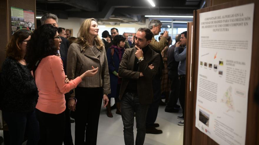 Paloma Martín durante la inauguración el encuentro de expertos en Agroecología en el Centro de Innovación Gastronómica
