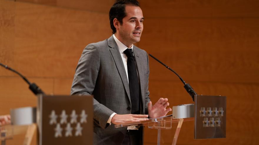 Ignacio Aguado durante la presentación del Plan Recuperación COVID19
