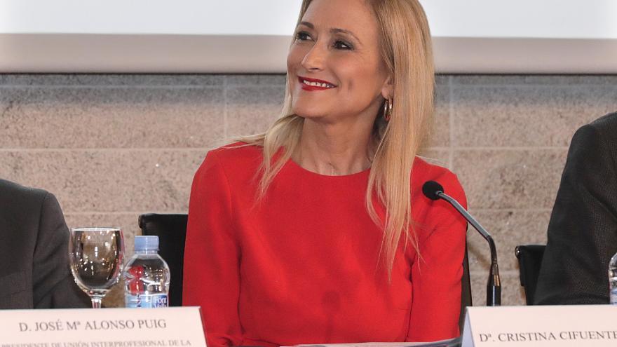 Cristina Cifuentes en la clausura del Día de las Profesiones