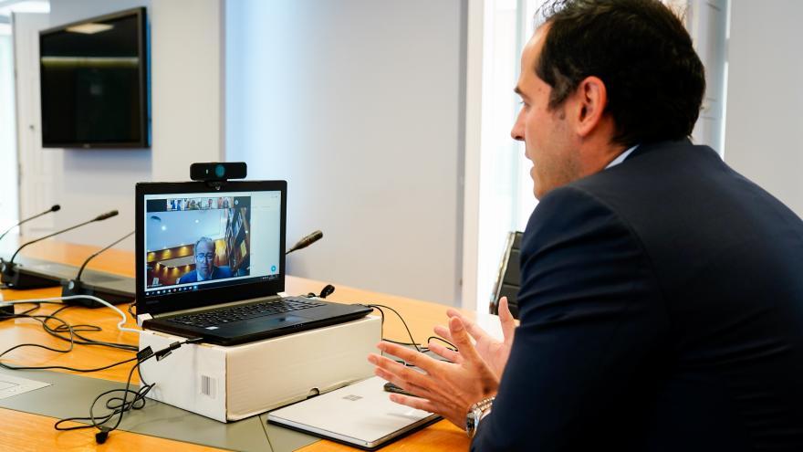 Aguado videoconferencia despacho