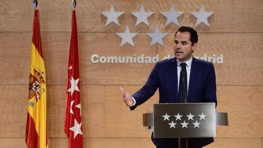 Ignacio Aguado en la rueda de prensa posterior al consejo de gobierno