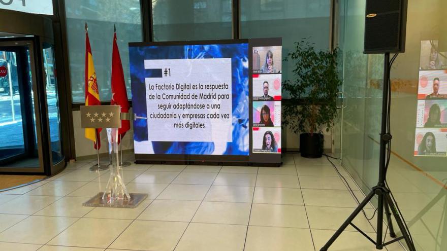 Imagen de la presentación durante la presentación de Factoría Digital 3