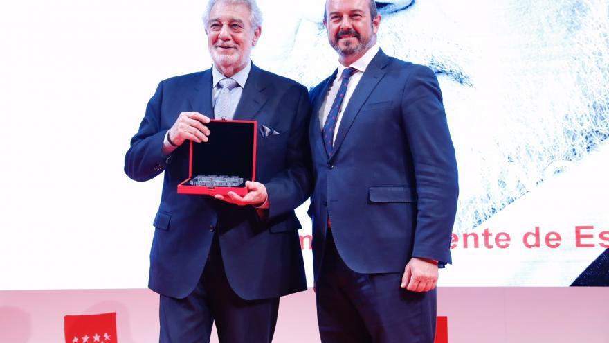 Pedro Rollán y Plácido Domingo