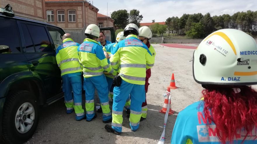 profesionales de SUMMA 112 realizando un curso en el IFISE