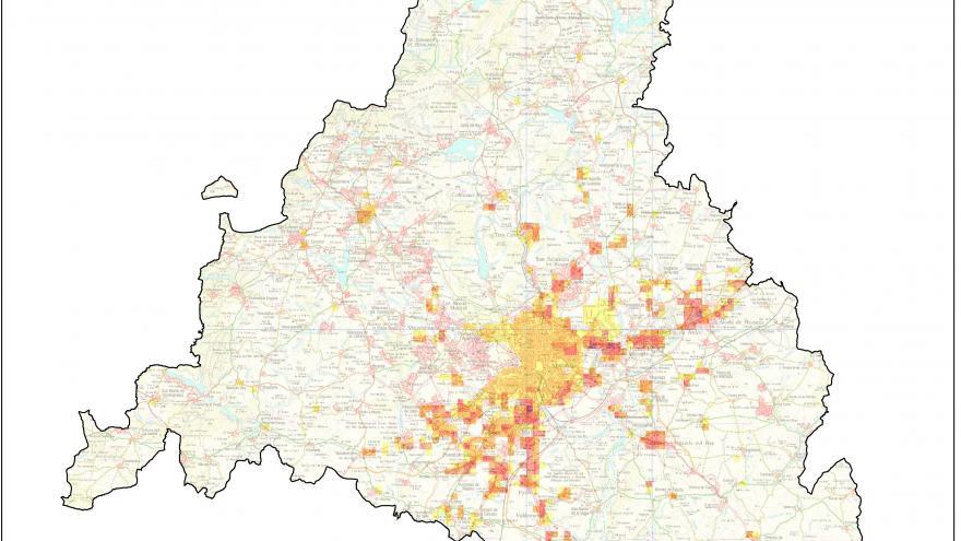 Mapa Inventario emisiones COVNM (Compuestos orgánicos volátiles no metánicos)