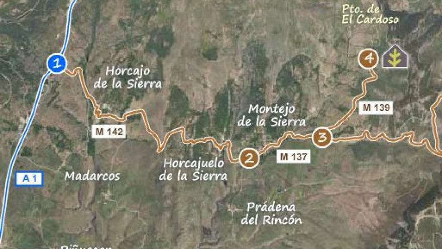 Acceso al Centro de educación ambiental Hayedo de Montejo