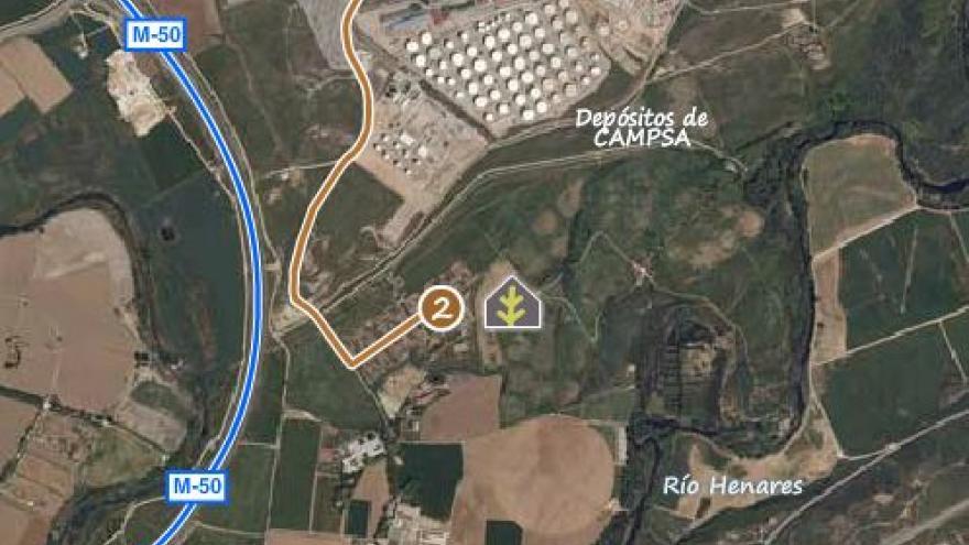 Acceso al Centro de educación ambiental Caserío de Henares