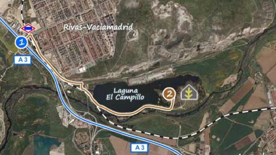 Ubicación del Centro de educación ambiental El Campillo