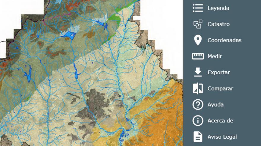 Herramientas del Visor de cartografía ambiental