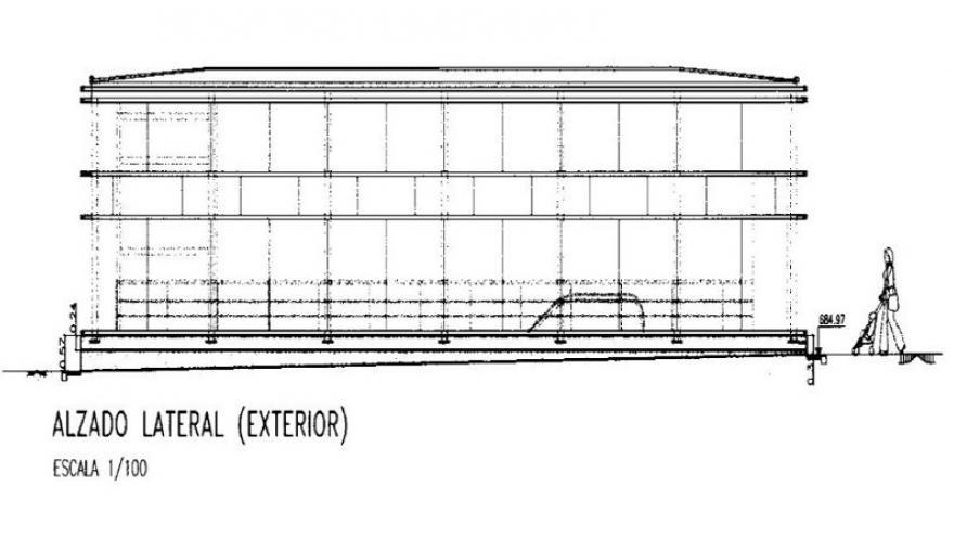Alzado lateral exterior templete metrosur