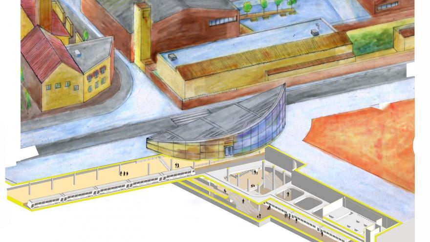 Esquema estación Getafe Central