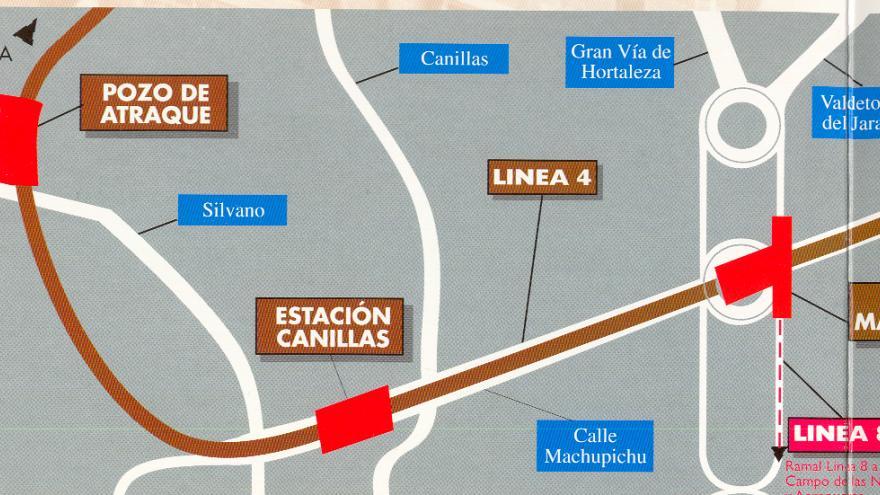 Plano de situación de las obras L4