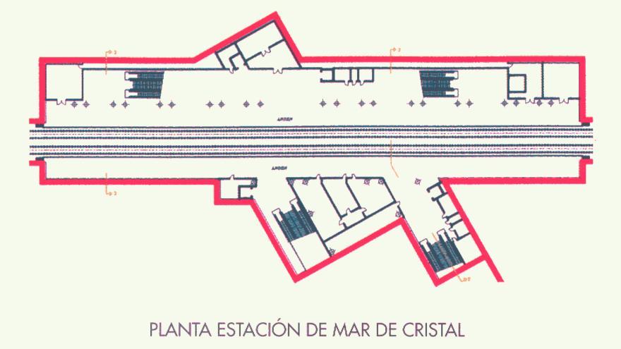 Planta estación de Mar de Cristal